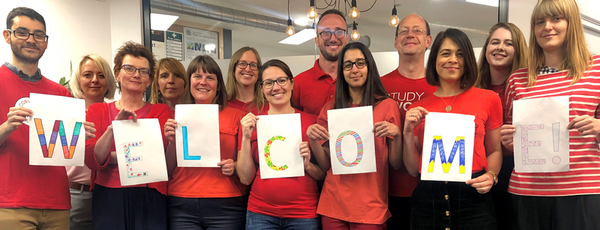English UK team welcome refugee week 2019
