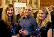 English_UK_Annual_Conference__AGM_2015_13_Reception_Nasia_Nikolova_of_British_Council_friendly_man_Sarah_Morse_of_Twin