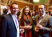English_UK_Annual_Conference__AGM_2015_20_Reception_Unknown_Emelyne_Burkhard_of_Celtic_English_Academy_Thomas_Marsh_of_Peer_Transfer